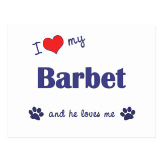 私は愛します私のBarbet (オス犬)を ポストカード