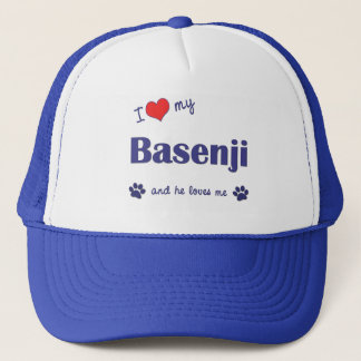 私は愛します私のBasenji (オス犬)を キャップ