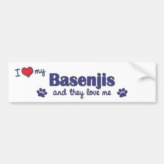 私は愛します私のBasenjis (多数犬)を バンパーステッカー