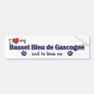 私は愛します私のBasset Bleu de Gascogne (オス犬)を バンパーステッカー