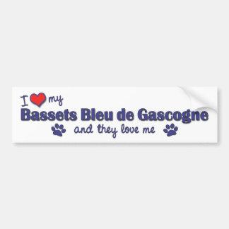 私は愛します私のBassets Bleu de Gascogne (多数犬)を バンパーステッカー
