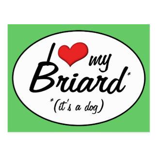 私は愛します私のBriard (それは犬です)を ポストカード