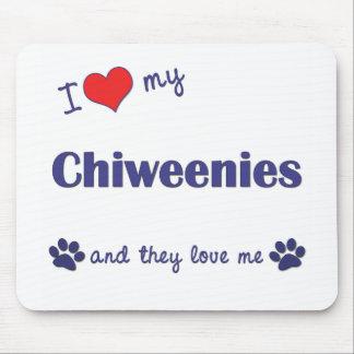 私は愛します私のChiweenies (多数犬)を マウスパッド