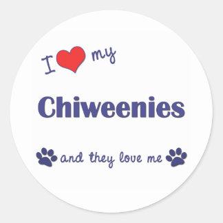 私は愛します私のChiweenies (多数犬)を ラウンドシール