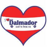 私は愛します私のDalmador (オス犬)を フォトの切り取り