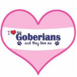 私は愛します私のGoberians (多数犬)を フォトの切り取り