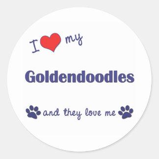 私は愛します私のGoldendoodles (多数犬)を ラウンドシール