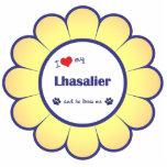 私は愛します私のLhasalier (オス犬)を アクリル切り抜き