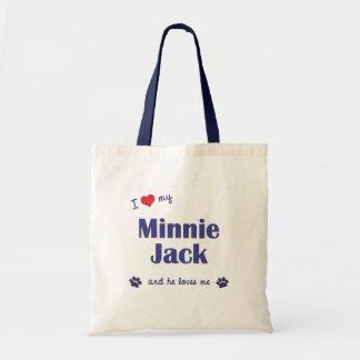 私は愛します私のMinnieジャック(オス犬)を トートバッグ