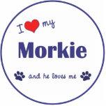私は愛します私のMorkie (オス犬)を 写真の切り抜き