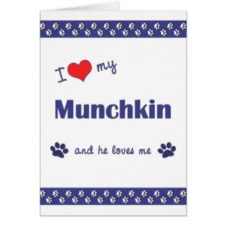 私は愛します私のMunchkin (オス猫)を カード