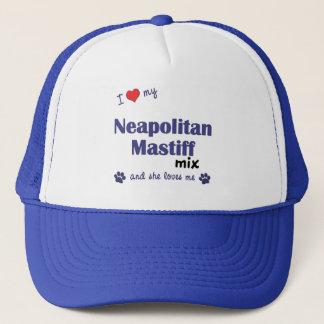 私は愛します私のNeapolitanマスティフの組合せ(メス犬)を キャップ