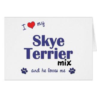 私は愛します私のSkyeテリアの組合せ(オス犬)を カード