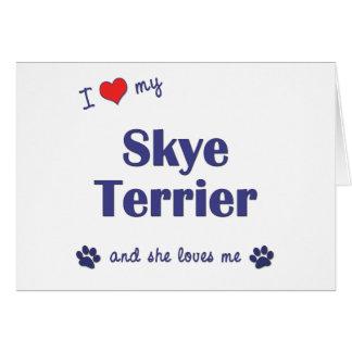 私は愛します私のSkyeテリア(メス犬)を カード