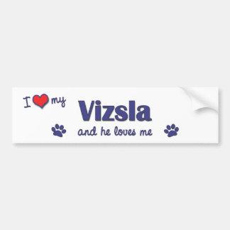 私は愛します私のVizsla (オス犬)を バンパーステッカー