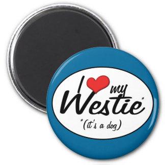 私は愛します私のWestie (それは犬です)を マグネット