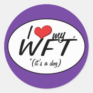 私は愛します私のWFT (それは犬です)を ラウンドシール