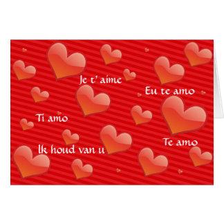 私は愛します カード