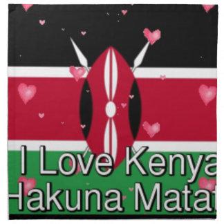 私は愛します! ケニヤHakuna Matata ナプキンクロス