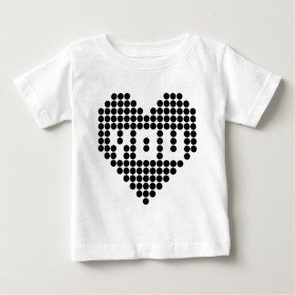 私は愛します(黒) ベビーTシャツ