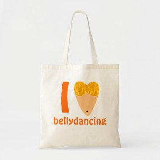 私は愛しますBellydancingのダンサーの胴(Iのハート)を トートバッグ
