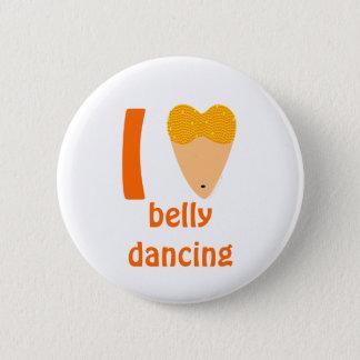 私は愛しますBellydancingのダンサーの胴(Iのハート)を 5.7cm 丸型バッジ