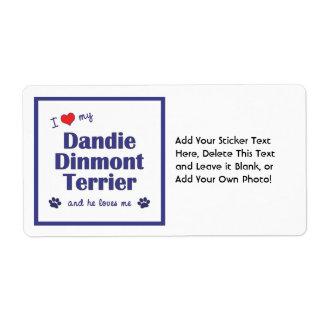 私は愛しますDandie私のDinmontテリア(オス犬)を ラベル