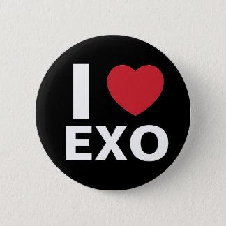 私は愛しますExoボタン(黒)を 5.7cm 丸型バッジ
