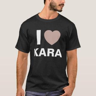 私は愛しますKaraのTシャツ(黒)を Tシャツ