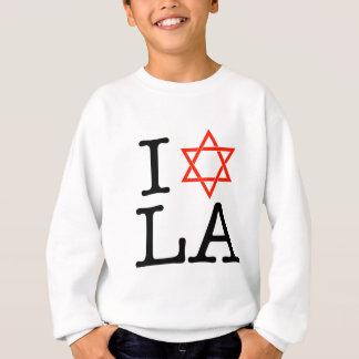私は愛しますLA (ダビデの星)を スウェットシャツ