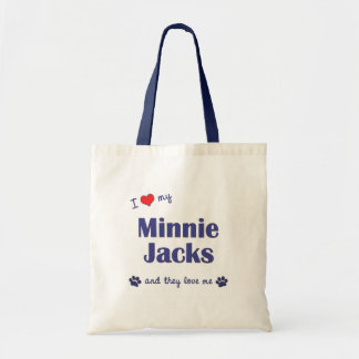 私は愛しますMinnieの私のジャッキ(多数犬)を トートバッグ