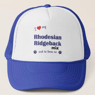私は愛しますRhodesian私のRidgebackの組合せ(オス犬)を キャップ