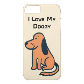 私は愛犬家のための私の小犬のiPhoneの場合を愛します iPhone 8/7ケース
