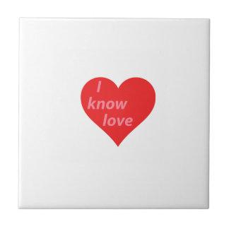 私は愛-バレンタインのギフト--を知っています タイル
