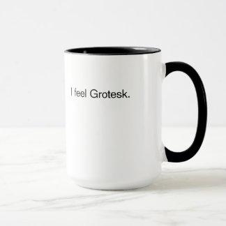 私は感じますGrotesk (マグ)を マグカップ