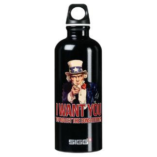 私は憲法を保護してほしいです ウォーターボトル