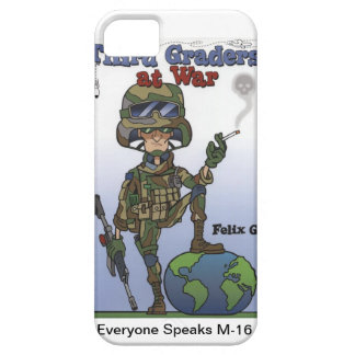 私は戦争で4つの場合の第3グレーダーに電話をかけます iPhone SE/5/5s ケース