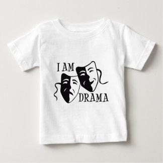 私は戯曲黒です ベビーTシャツ
