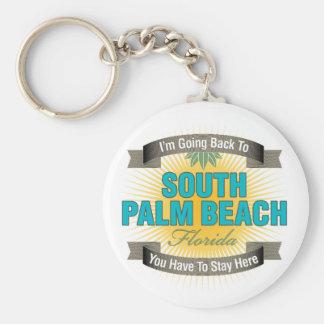 私は戻っています(南Palm Beach) ベーシック丸型缶キーホルダー