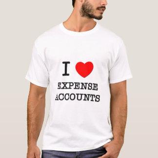 私は所要経費を愛します Tシャツ