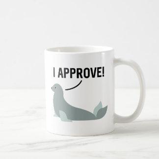 私は承認します コーヒーマグカップ
