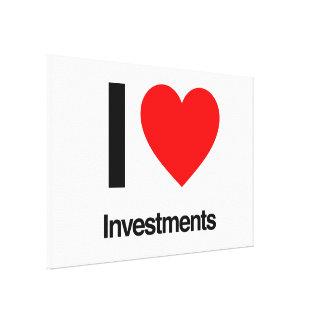 私は投資を愛します キャンバスプリント