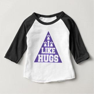 私は抱擁を好みます ベビーTシャツ