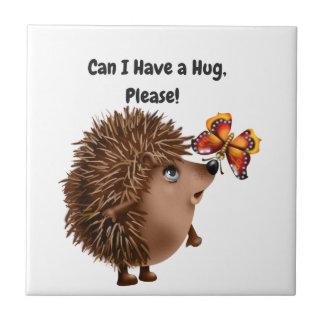 私は抱擁ハリネズミの蝶友情を有してもいいです タイル