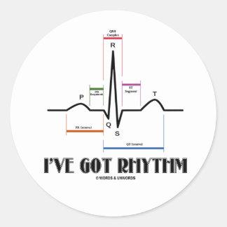 私は持っていますリズム(ECG/EKG - Oldgateの車線の輪郭)を ラウンドシール