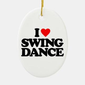 私は振動ダンスを愛します セラミックオーナメント