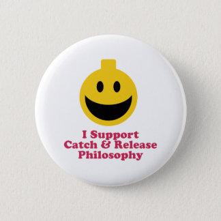 私は捕獲物を支え、哲学を解放します 5.7CM 丸型バッジ