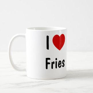 私は揚げ物を愛します コーヒーマグカップ