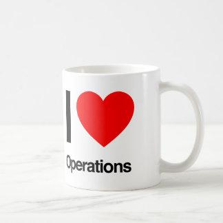 私は操作を愛します コーヒーマグカップ