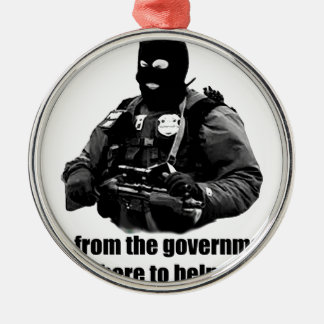 私は政府から、私救済することいますここにあります メタルオーナメント